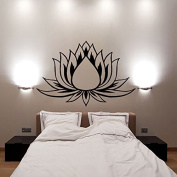Lotus Flower Wall Decals Vinyl Decal Yoga Sticker Meditation Art Decor Removable . Mural Unique Design for Room L622