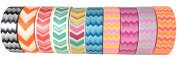 Washi Tape By L'artisant - Premium Quality Set Of 10 Awesome Patterns. Chevron