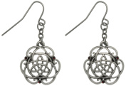 Jewellery Trends Pewter Rhinestone Trinity Knot Earrings