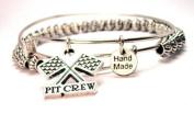 Pit Crew Beaded Adjustable Bangle Charm Bracelet