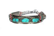Turquoise Bracelet Tibetan Bracelet Boho Bracelet Silver Bracelet