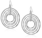 Robert Lee Morris Layered Hammered Sculptural Rings Drop Earrings