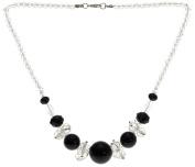 Lova Jewellery Black Onyx On White Necklace.
