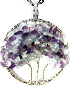Three Sisters Necklace Tree of Life Gemstone Jewellery Best Friend Silver Pendant Deluxe Gift 46cm 60cm Chain