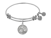 """Angelica Collection Non-antique Stipple Finish Brass """"the Sea"""" Expandable Bangle"""