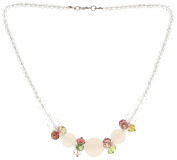 """Lova Jewellery """"White Clematis"""" Hand-Blown Venetian Murano Glass Necklace"""