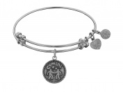 """Angelica Collection Antique Smooth Finish Brass """"gemini""""-may an Expandable Bangle"""