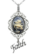 Mermaid Necklace Sister Jewellery Faith Charm Fashion Silver Pendant 2 Chain Velvet Pouch Deluxe Case Gift