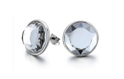 Mens Stud Earrings Round Glass Ball Stud Earrings for Women