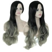 Women's Wig, Fullkang Ms. Wave Gradient Colour Wig High Temperature Silk Fibre Hair