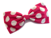 Large Pink Polka Dot Minnie Mouse Inspired Hair Bow