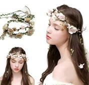 Multipurpose Flower Vine Crown Tiaras Necklace Belt Party Decoration : S9