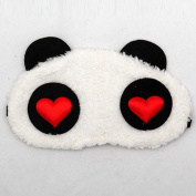 Lovely panda Face Sleep Masks panda Eye Mask Sleeping Blindfold Nap Cover Heart Printed