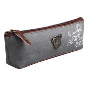 Oksale® Vintage Canvas Pencil Pen Case Stationery School Cosmetic Makeup Pouch Pocket Coin Bag