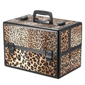 Docooler Lockable Cosmetic Organiser Box Foldable Makeup Train Storage Case Holder 2 Layers