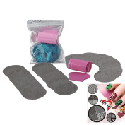Biutee Nail Art Stamping Kit- 30 Manicure Plate Set with Polish Stamper and Scraper by Salon Designs