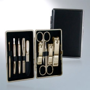 World No. 1, Three Seven 777 Travel Manicure Pedicure Grooming Kit Set - Nail Clipper (Total 10 Pcs:, Model