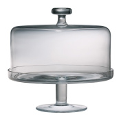 Majestic Gifts European Handmade Cake Dome and Base Set, Large, Clear