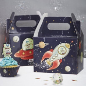 Ginger Ray Space Adventure Party Spaceship & Robot Kids Party Boxes (5 Pack), Mixed