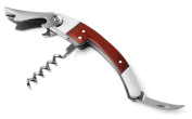Visol Tassin Stainless Steel Corkscrew with Wood Grain Handle
