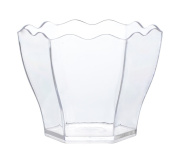 Tiny Temptations Fineline 6304-CL Tiny Hexagon Cube, 5.3cm Diameter/4.8cm Height, Clear, 10/20/200 Case