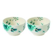 Wedgwood Blue Bird 11cm Dip Bowl (Set of 2), Multicolor
