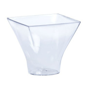 Lillian Mini Plastic Flared Mousse Cup, Pack of 12, Clear