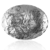 Wendell August Forge Oval Bowl, Small, Iris