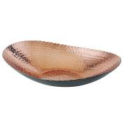 Elegance 72092 Oval Bowl, 30cm x 22cm , Black/Copper