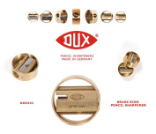 DUX DX6241 Pencil Sharpener - brass sharpener in a brass ring - Made in Germany