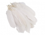 15cm - 22cm White Goose Feather for Home Wedding Party DIY Decor Crafts