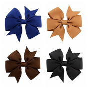 Handmade 40Pcs Baby Girls Grosgrain Ribbon Boutique Hair Bows For Teens Baby Girls Babies Toddlers Christmas Gift