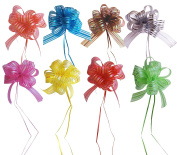 MoDu Set of 8 Elegant Pull Bow with 90cm Long Ribbon Strings for Gift Wrap and Party