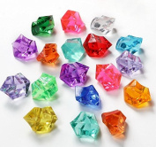 Quality Coloured Acrylic Crushed Ice Ice Rocks for Vase Fillers and Table Decorating - About 105-120 Pieces