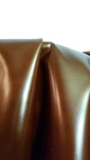 NAT Leathers Brown Metallic Calf Finish Vegetable tanned Cowhide leather 16 to 1.8sqm X 80cm 2.5-90ml Crafting Upholstery Calf Genuine Leather Cow Hide Skin