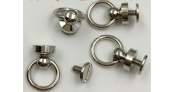 "Inton 50 Sets - Plated Brass Head Button O-ring 3/8"" 10mm Stud Screwback with Screw (Nickle)"