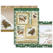 Hunkydory Winter Wildlife - Fallow Deer & Hedgehog - Topper Set Card Kit