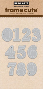 Hero Arts DI301 Classic Numbers Frame Cuts Card Making Kit