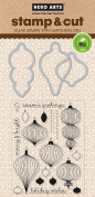 Hero Arts DC186 Ornaments Stamp & Cut Card Making Kit