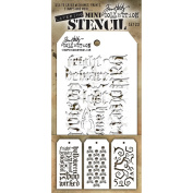 Stampers Anonymous - Tim Holtz - Mini Stencil Set #23