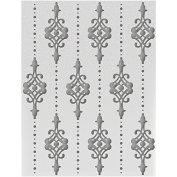 Couture Creations Embossing Folder A2-Lilliputana Curtain - Hearts Ease