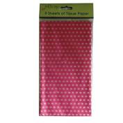 Printed Tissue Paper - Pink Polka Dot - 9 Sheets - Size 8.1m x 6m