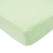 TL Care Heavenly Soft Chenille Crib Sheet, Celery, 70cm x 130cm