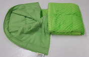 Ultra-Soft Lime Minky Weighted Sensory Blanket -2.3kg 30x40