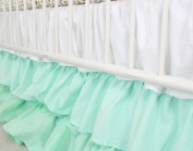Ombre 3 Tiered Ruffled Crib Skirt - Fits standard cribs