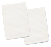2 White Toddler Pillowcases - 13x18 - 100% Cotton With Percale Weave - Envelope Style Closure - Machine Washable - Zadisonjaxx Basics Collection - 2 Pack