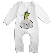 Baby Boy Girl Bodysuit Outfits 'Cry Baby' Onion Fashion Long Sleeve Baby Onesie