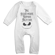Baby Boy Girl Bodysuit Outfits Nightmare Before Bedtime Cute Long Sleeve Clothing