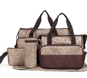 Keynew 5pcs Multi-function Large Capacity Baby Nappy Changing Nappy Bag Travel Mummy Bag Tote Handbag Set