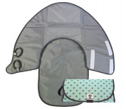 SnoofyBee Changing Pads, 3-in-1 Nappy Clutch, Nappy Changing Pad, Playmat
